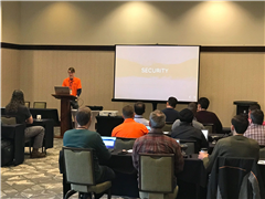 Brian Dukes presenting Building Secure ASP.NET Applications at DNN Summit 2019