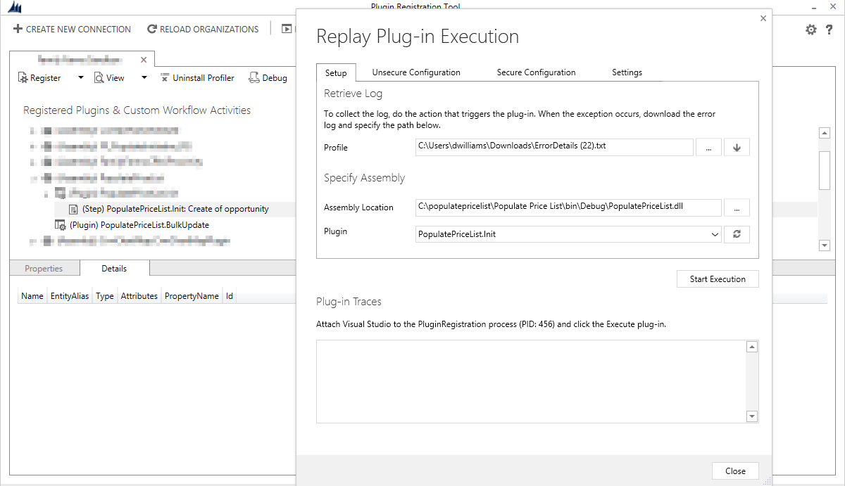 plugin registration tool screenshot