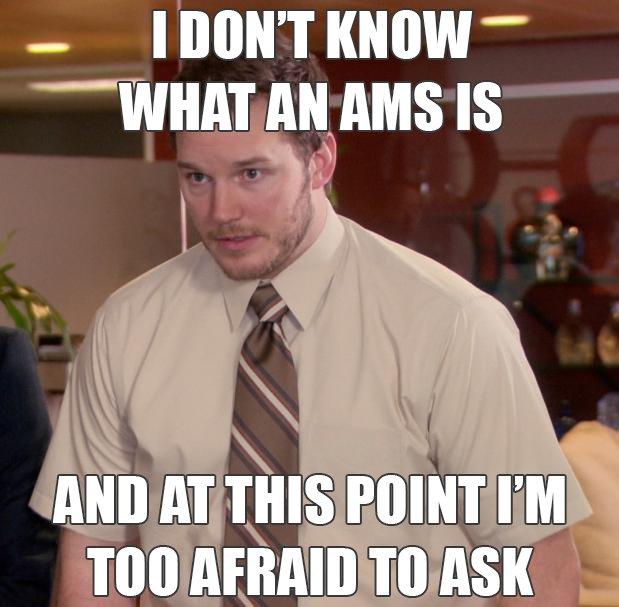 """I dont know what an AMS is"