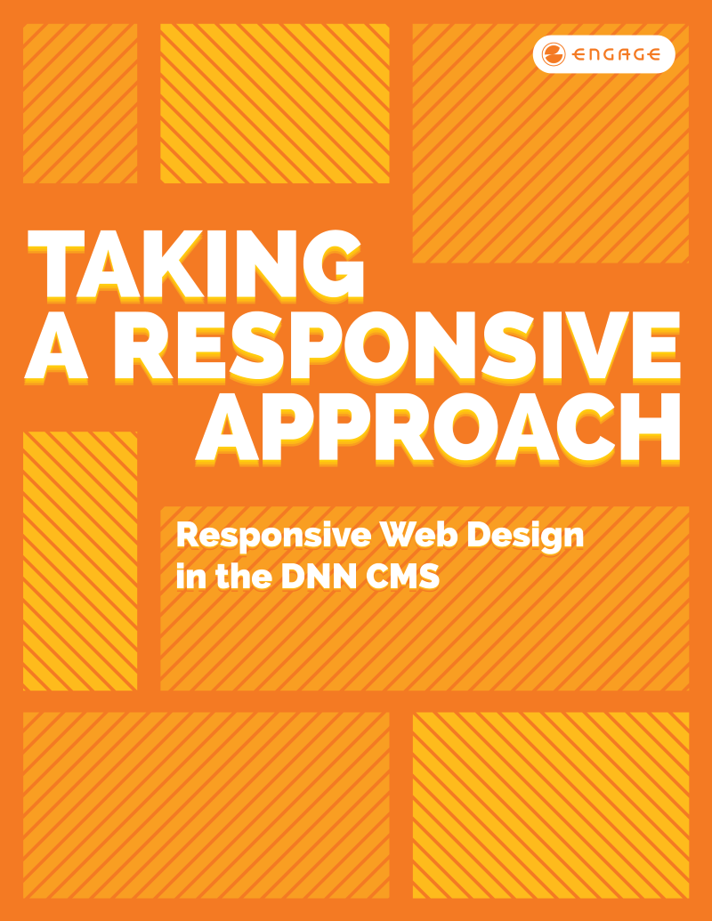 Cover page for white paper entitled Taking a Responsive Approach: Responsive Web Design in the DNN CMS